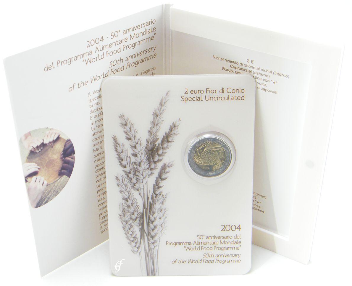 2 Euro Blister Coincard Italien 2004 Welternährungsprogramm Ebay